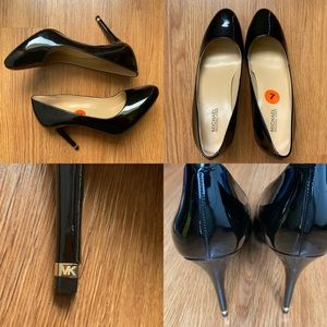 NWT Michael Kors Ashby Flex Patent Leather Heels